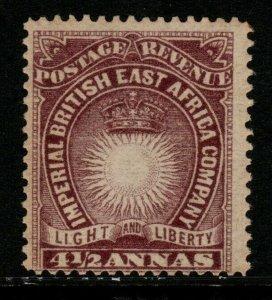 BRITISH EAST AFRICA SG11a 1893 4½a BROWN-PURPLE MTD MINT