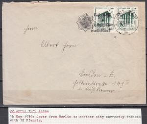 Germany - 16.5.1939 6pf+4 Exhibition as MeF on cover correctly franking (5023)
