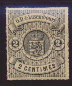 Luxembourg Stamp Scott #14, Mint Hinged, Original Gum, Hinge Remnant - Free U...