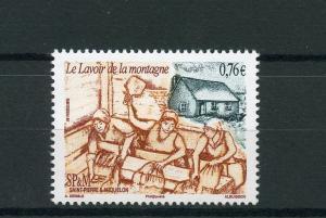 Saint Pierre & Miquelon SP&M 2015 MNH La Lavoir de la Montagne 1v Set Monuments