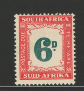 South Africa 1952 Postage Due 6p Scott # J44 MNH