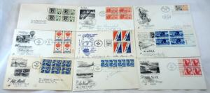 9 USA AirMail Stamps FDC SC# C50-C58  First Day Cover Collection