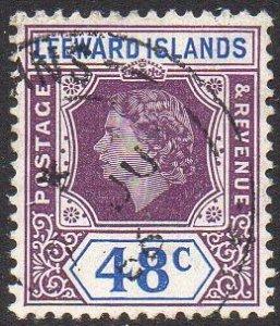 Leeward Islands 1954 48c dull purple and ultramarine used