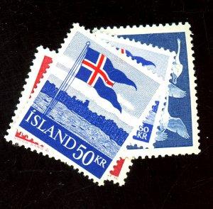 ICELAND #298-9 313-4 MINT VF OG HR/LH Cat $23