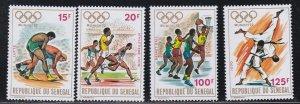 Senegal # 365-368, Munich Summer Olympics, NH, 1/2 Cat.