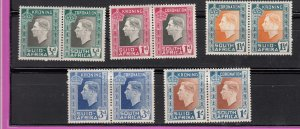 J28454, 1937 south africa set #74-8 king