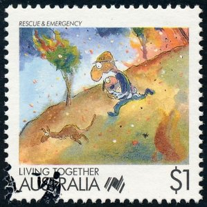 Australia 1988 $1 Living Together - Rescue & Emergency SG1136 Fine Used 3