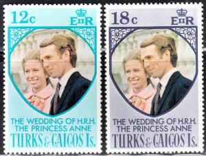 Turks and Caicos Islands Scott 286-87  complete set  F to VF mint OG NH.