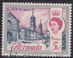 Bermuda 1962 - 68 QE2 5d HM Dockyard  SG 167 ( G1084 )