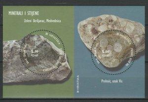 Croatia 2014 Minerals and Rocks MNH block