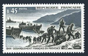 France 1252,MNH.Michel 1680. WW II,French Troops landing-Provence.1969.