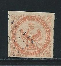 French Colonies 5 1859-68 40c Eagle single Used (z1)