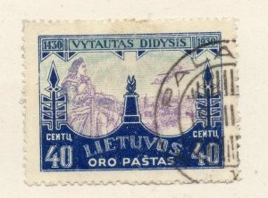 LITHUANIA 1930 Early Issue Fine Used 40c. NW-07308