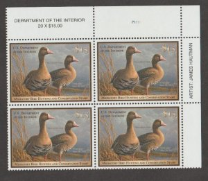 U.S. Scott #RW78 Duck Stamp - Mint NH Plate Block