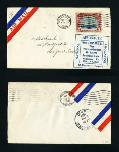 Airmail Cover welcoming the Transcontinental Racers, McKeesport, PA - 9-5-1928