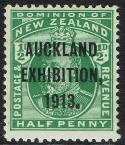 NEW ZEALAND 1913 AUCKLAND EXHIBITION 1/2D MNH **