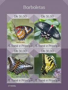 Z08 IMPERF ST190308a Sao Tome and Principe 2019 Butterflies MNH **