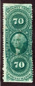 Scott R65b,70c Foreign Exchange,very faint hs cancel with an ms cancel