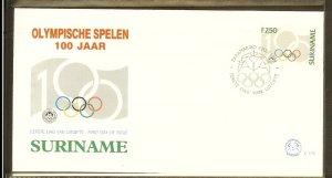 1994 - Rep. Surinam FDC E175 - Sport - Olympics - 100 year International Olym...