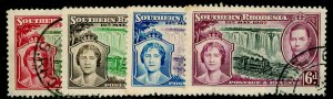 SOUTHERN RHODESIA SG36-39, COMPLETE SET, FINE USED. Cat £15.