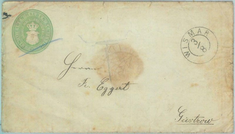 89249 - GERMANY Mecklenburg-Schwerin - Postal History - STATIONERY  # U6 1860
