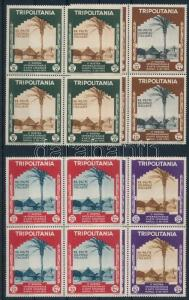 Tripolitania stamp Colonial Exhibition, Naples set in blocks of 4 MNH WS233476