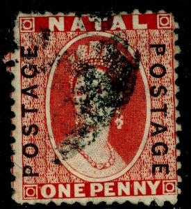 SOUTH AFRICA - Natal SG60, 1d brt red, USED. Cat £13.