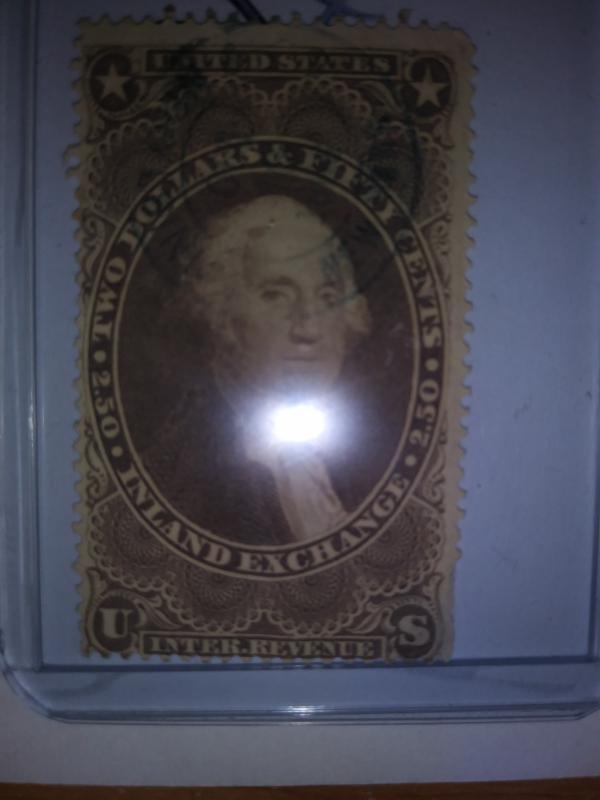 SCOTT # R84   2.50 INLAND EXCHANGE REVENUE 1869 !!!