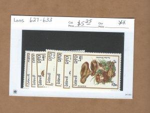 Laos  627-633  MNH