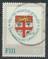 Fiji SG 640 SC# 470 Used Princess Diana Birthday  see scan