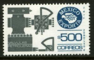 MEXICO Exporta 1496, $500P Oil Valves Fosfo Paper 10. MINT, NH. VF.