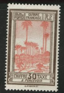 French Guiana Scott J16 MH* Postage Due stamp