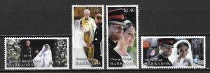 Barbados 1303-6 Prince Harry Wedding set MNH