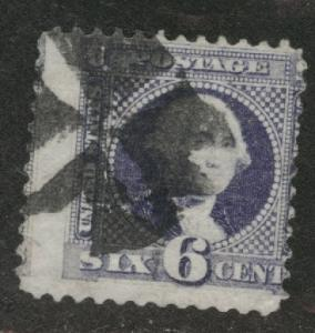 USA Scott 115 used 1869 stamp cork cancel off center