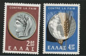 GREECE Scott 743-744 MNH** 1962 FAO set