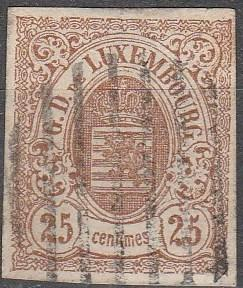 Luxembourg #9 F-VF Used CV $350.00 (C3403)