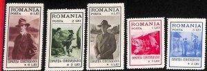 94963b - ROMANIA - STAMP - Yvert #  422/26   - MInt Never Hinged MNH  Boy Scouts