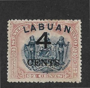 Labuan Scott # 92a VF-OG with nice color scv $ 50 ! see pic !