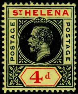 ST. HELENA SG85, 4d black & red/yellow, M MINT.