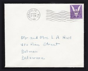SCOTT #905 WIN THE WAR COVER ANNAPOLIS MD 1946 - UNCACHETED