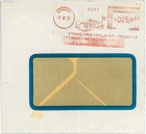 AUTO CARS OIL -  AUTOMATIC POSTMARK on COVER -  ITALY 1955