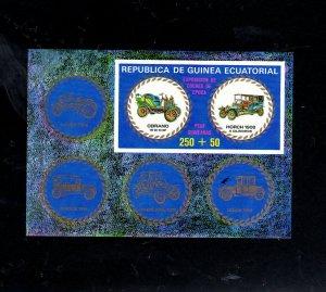 EQUATORIAL GUINEA 1976 CONTEMPRY AUTOS  MINT  VF NH  O.G (7684)  S/S IMP. (EQ6)
