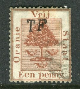 ORANGE FREE STATE; 1900s early classic Telegraph issue TF used value
