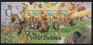 AUSTRALIA, 2011B, MNH, 2001, SOUVENIR, CARICATURES OF AUSTRALIAN WILDLIFE