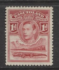 Basutoland - Scott 19 - KGVI-Definitive Issue -1938 - MVLH - Single 1d Stamp