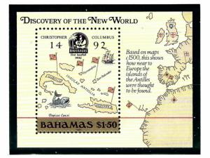 Bahamas 644 MNH 1988 Discovery of America S/S
