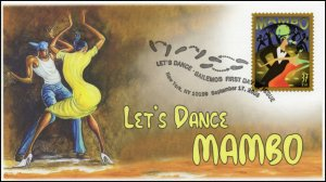 AO-3942-1, 2005, Let's Dance, Mambo, Add-on Cachet, FDC, Pictorial Postmark,