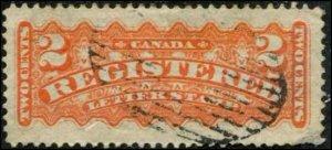 Canada SC# F1 REgistration Stamp 2c Used