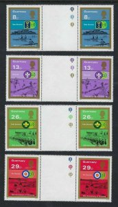 1982 Scouts 75th anniversary Guernsey gutter pairs