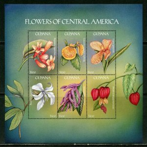 GUYANA  FLOWERS OF CENTRAL AMERICA   SHEET I  MINT NH